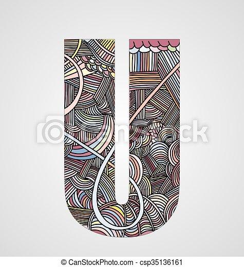"""Letter """"U"""" - csp35136161"""