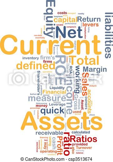 Current assets background concept - csp3513674