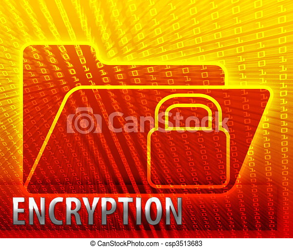 Secure encryption data folder - csp3513683