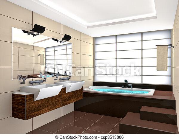 Stock illustration von zimmer bad modern bad zimmer for Badezimmer inneneinrichtung