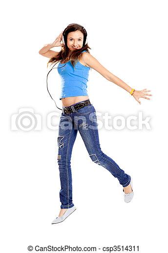 Dancing and Listen Music - csp3514311