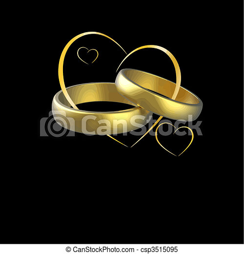 wedding vector csp3515095 wedding rings and hearts vector isolated on