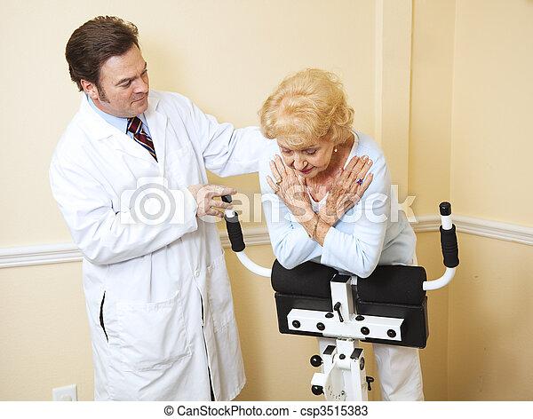 シニア, 女, 療法, 健康診断 - csp3515383