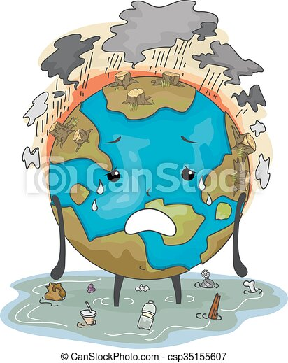 vector clipart of earth mascot environmental damage Cartoon Earth Clip Art Black and White Cartoon Earth Clip Art Black and White