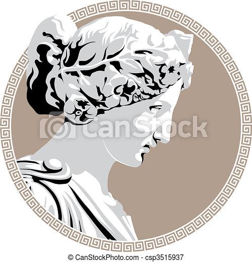 Ancient goddess - csp3515937