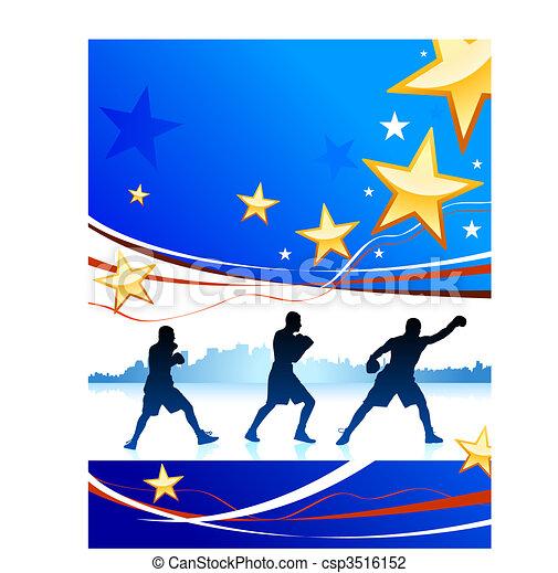 American patriotic boxing background - csp3516152