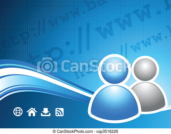 user group on internet background - csp3516226