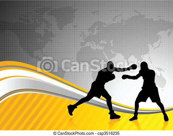 boxing world championship background - csp3516235