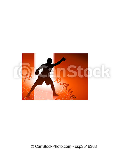 boxing sets background - csp3516383