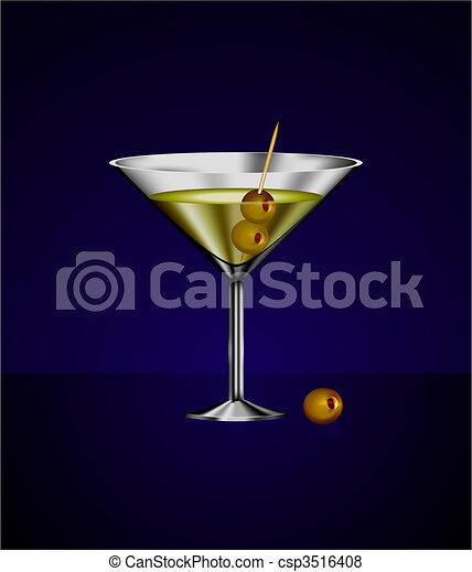 vecteur de verre olives martini cocktail original vecteur csp3516408 recherchez des. Black Bedroom Furniture Sets. Home Design Ideas