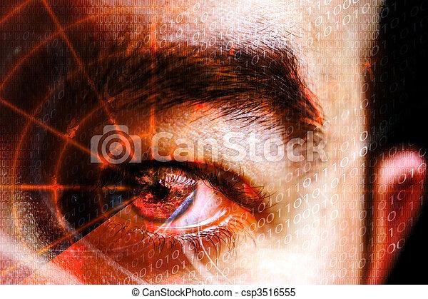 Cyber Crime Eye - csp3516555