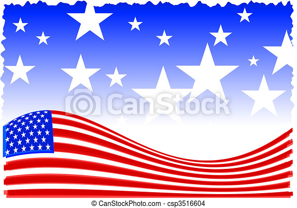 american patriot background - csp3516604