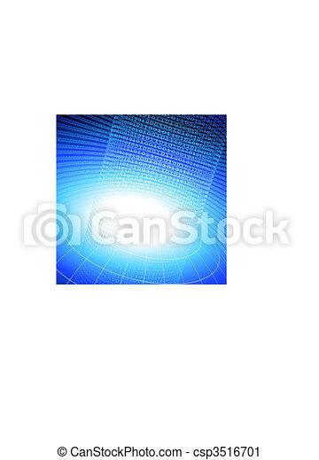 binary code on blue internet background - csp3516701