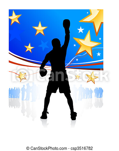 American patriotic boxing background - csp3516782