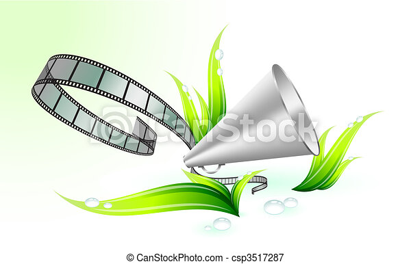nature and environment film festival background - csp3517287