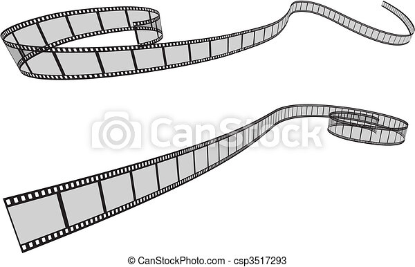 Clip Art Vector of Camera Film Strip background csp3517326 ...