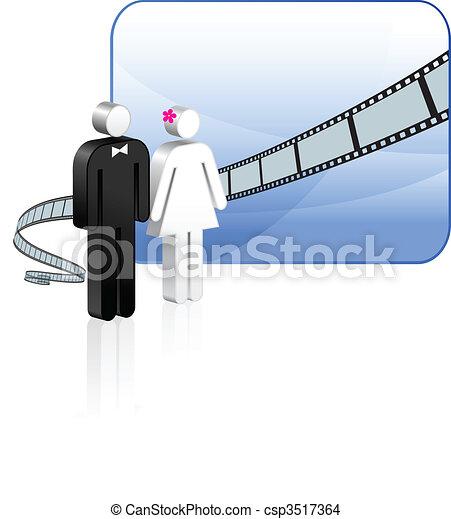Wedding video background - csp3517364