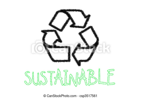 Sustainable recycle sign - csp3517561