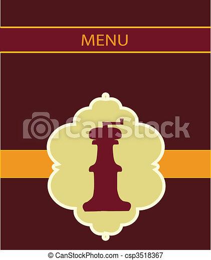 salt miller menu design - csp3518367