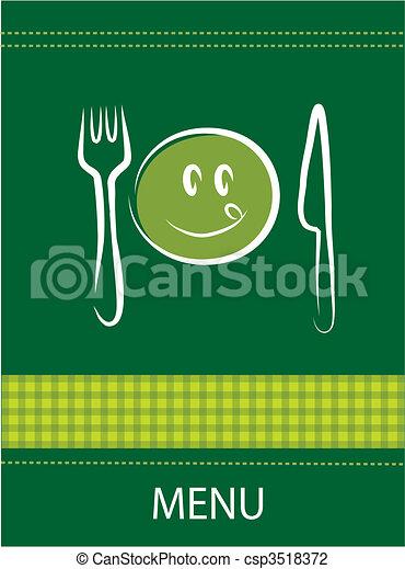 smiley restaurant menu design  - csp3518372