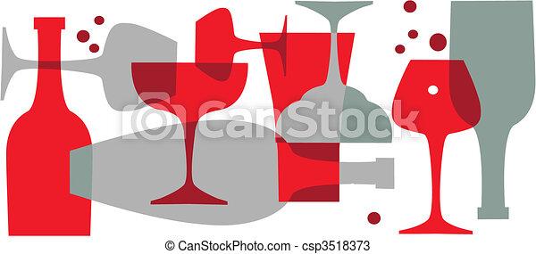 beverages, bottles and glasses  - csp3518373