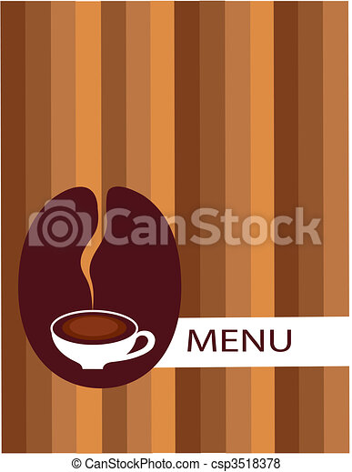 cup of coffee with bean menu  - csp3518378