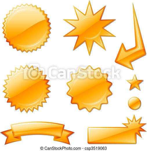 orange star burst designs - csp3519063