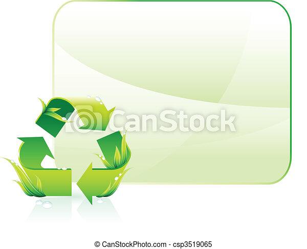 Green Environmental Conservation Background - csp3519065