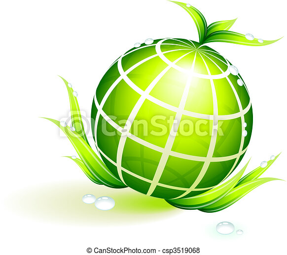 Globe Green Environmental Conservation Background - csp3519068