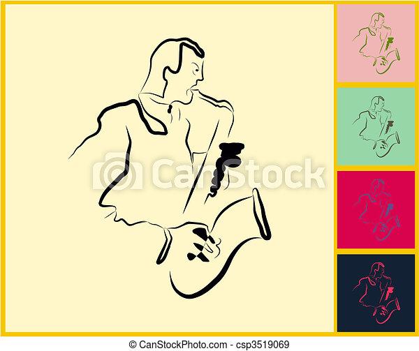 Live Jazz & Blues - csp3519069