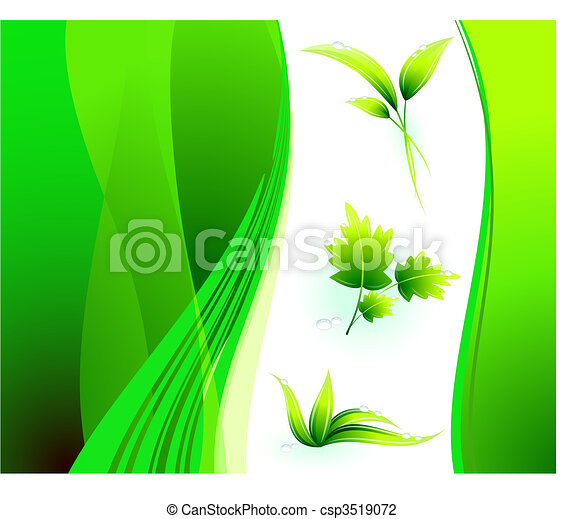 Green Environmental Conservation Background - csp3519072