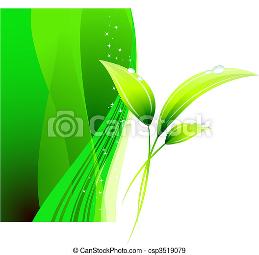 Green Environmental Conservation Background - csp3519079
