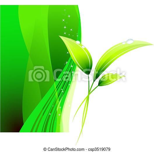 Green Environmental Conservation Background - csp3519079