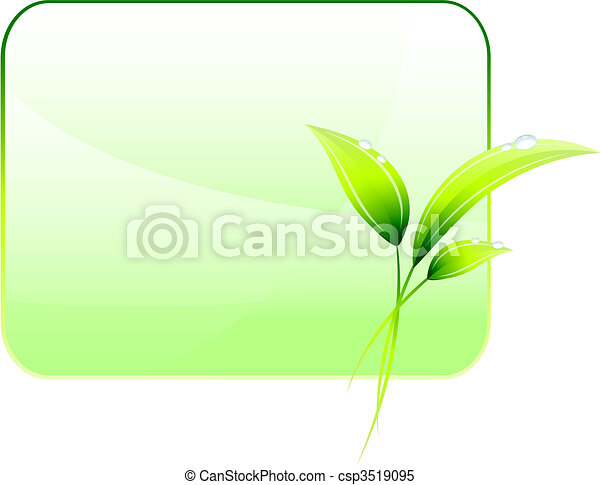 Green Environmental Conservation Background - csp3519095