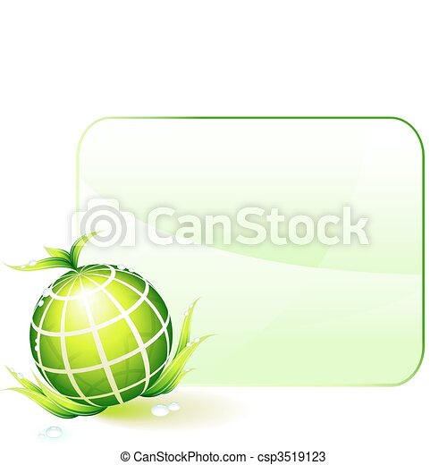 Globe Green Environmental Conservation Background - csp3519123