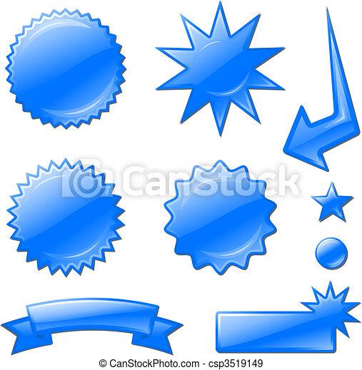 blue star burst designs - csp3519149