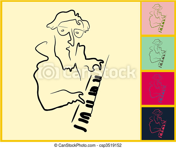 Live Jazz & Blues - csp3519152