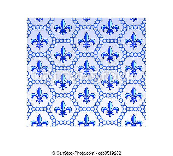 fleur de lis design collection - csp3519282