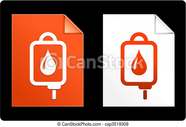 IV drip on Paper Set - csp3519309