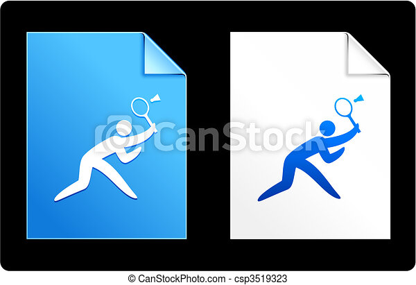 Badminton on Paper Set - csp3519323