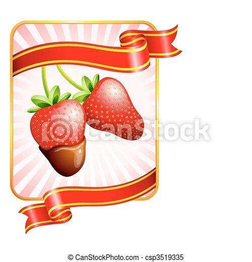 Strawberry Valentine\'s Day design background - csp3519335
