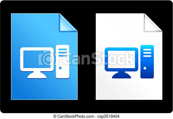 Computer Desktop on Paper Set - csp3519404