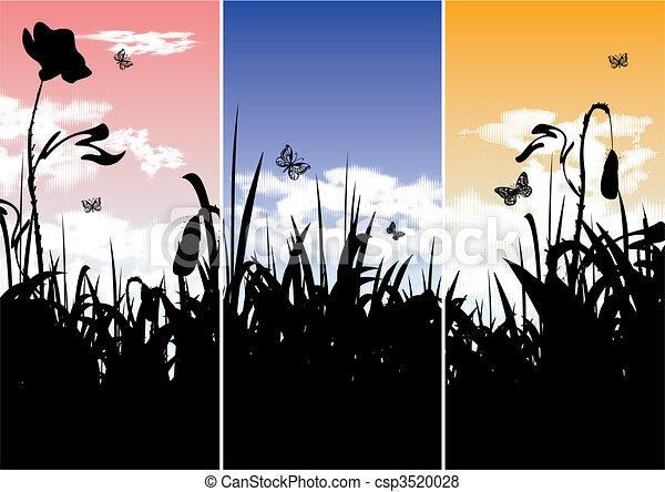 Nature banners - set of three - csp3520028