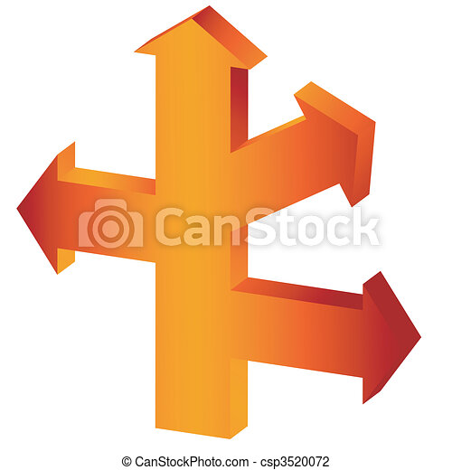 The big orange arrow-index - csp3520072