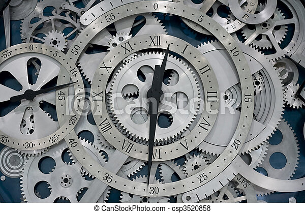 clock and gears - csp3520858