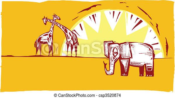 Safari scene #1 - csp3520874