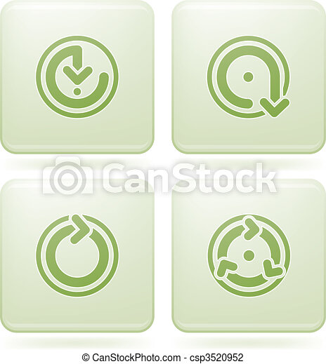 Cobalt Square 2D Icons Set: Bathroom - csp3520952