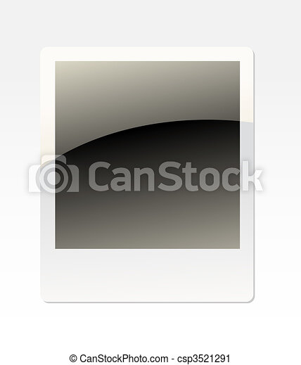 single instant photo with black space with room to add your own image - csp3521291