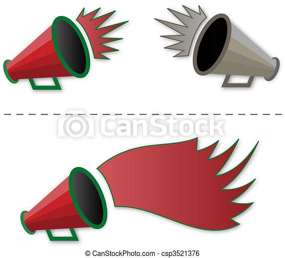 Megaphone shout-out     - csp3521376