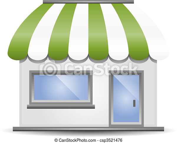 Storefront Awning in Green - csp3521476